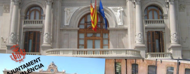 Los funcionarios cargan contra la falta de prevención de contagio en el Ayuntamiento de València.