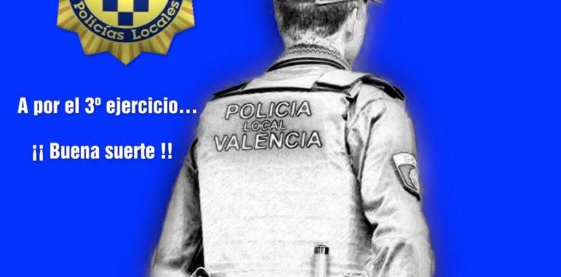 Oposiciones del Ayuntamiento de València Agente Policía Local. Convocatoria 3er ejercicio