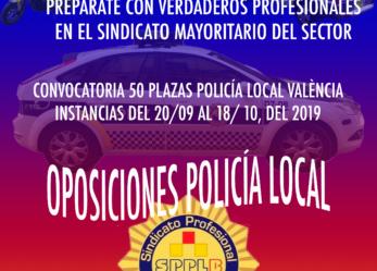 Se comunica que en el BOE número 225 de 19 de septiembre de 2019 se ha publicado extracto de las bases de la convocatoria para la provisión en propiedad de 50 plazas de Agente de Policía Local, iniciándose el plazo de presentación de instancias, desde el 20 de septiembre al 18 de octubre de 2019.