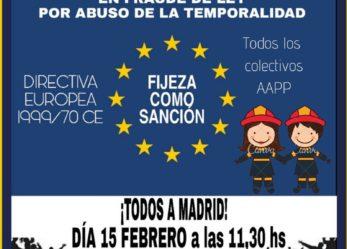 ¡Empleados Públicos temporales se manifiestan en  Madrid!