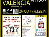 El 14 de enero Concentración Interinos en Fraude de Ley
