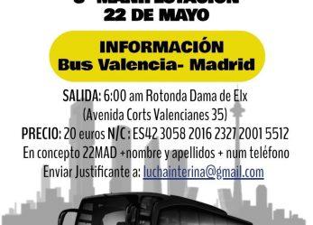 Interinos, a Madrid el 22 de mayo